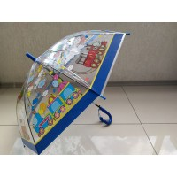 Зонт детский прозрачный с рис+свисток