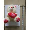 Мягкая игрушка-брелок Мишка с сердцем