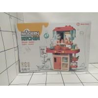 Детская игровая кухня, высота 63*45,5*22см, кор, свет, муз, холодный пар, вода, холодильник
