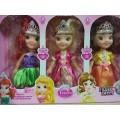 Набор кукол принцесс, 3шт. музык, XD12, 20см