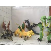 Динозавр ПВХ, звук, пак 500 (Дракон трехголовый)