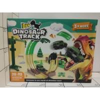 Трек с динозавром, свет, бат, кор YM-856A,245дет