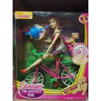 Кукла шарнирная с аксесс. на велосипеде, кор KQ057А