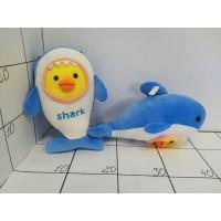 Игрушка мягкая Акула Shark с головой птенца, велюр 30см