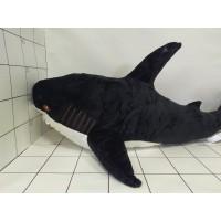 Игрушка мягкая Акула черн/роз 100см