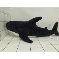 Игрушка мягкая Акула черн 80см
