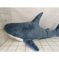Игрушка мягкая Акула 100см синяя