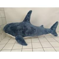 Игрушка мягкая Акула 80см синяя