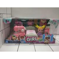 Набор мебели с куклой-малышкой Girl, кор LK1041C.Lol