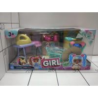 Набор мебели с куклой-малышкой Girl, кор LK1041A.Lol