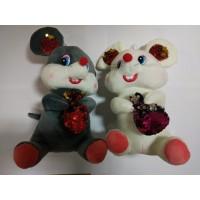 Мягкая игрушка Мышь с пайетками, озв