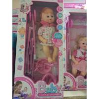 Набор коляска и кукла функцион, кор 922