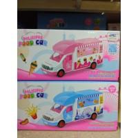 Автобус розовый на бат, кор 169-126