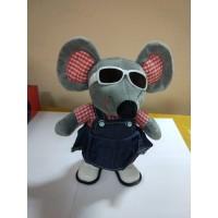 Мягкая игрушка Мышка в очках, , озвуч