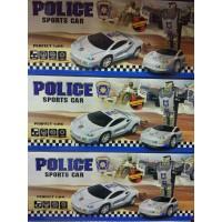Игрушка на бат, муз, машина-трансформер, 2в1, кор (Полиция) 9904-1