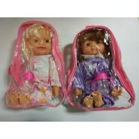 Кукла мягконабивная, озвуч, в сумке