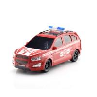 Машина пластмассовая Пожарная охрана Внедорожник, 29,5см. черные окна КМР 034b