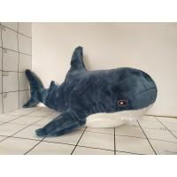 Игрушка мягкая Акула мех син-сер, 80см